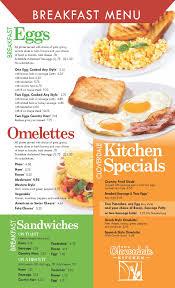 American Homestyle Kitchen Menu Cloverdale Kitchen