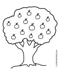 Small Picture Apple Tree Coloring Page For the Kids Pinterest Apples