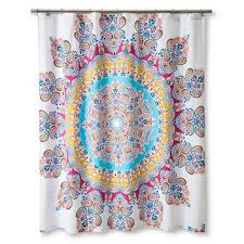 boho boutique gypsy rose shower curtain multi colored