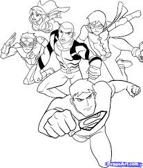 Small Picture Young Justice Coloring Pages nimcubecom
