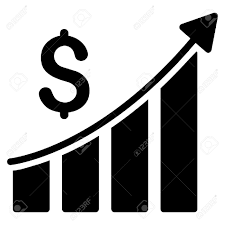 Sales Chart Icon Sales Growth Bar Chart Icon Vector Style Is Flat Iconic Symbol