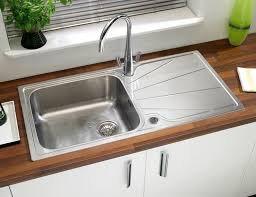single bowl kitchen sink stainless steel with drainboard korona 1 0