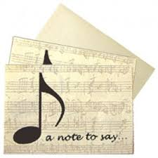 Note Cards Buy Music Themed Gifts Online