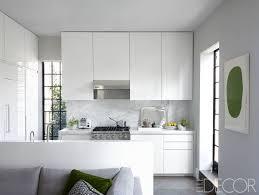 Small white kitchens Designer Elle Decor Best Small Kitchen Designs Design Ideas For Tiny Kitchens