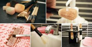 how to clean your filthy makeup brushes 13 easy hacks