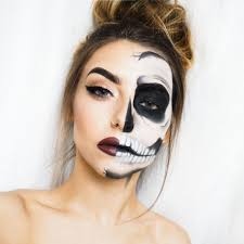 half face glam skeleton