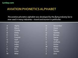 The phonetic alphabet or the spelling alphabet will show your customers that you want to get it right for them. Aviation Phonetics Alphabet