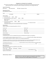 Affidavit Of Facts Template 24 Sample Affidavit Forms Templates Affidavit Of Support Form 16