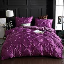 purple luxury washed silk duvet cover set 100 super soft pinch pleat brief bedding sets queen king size white duvet covers queen bedding and linens from