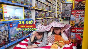 THỬ THÁCH 24H TRỐN TRONG SIÊU THỊ ĐỒ CHƠI MY KINGDOM - Chỉ Vì Mê Ninjago!!  - YouTube
