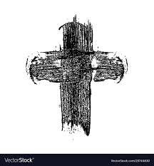 Cross Art Design Hand Drawn Christian Cross In Grunge Style Design