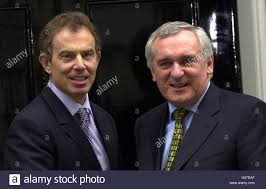 British Prime Minister Tony Blair (left) meets Irish Prime Minister Stock  Photo - Alamy