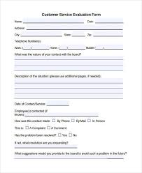 Customer Service Form 13 Free Documents In Word Pdf
