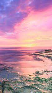 Pink Beach Sunset iPhone Wallpapers ...