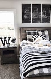 boys bedroom furniture black. Gives Me An Idea To Do Chalkboards On The Walls And Draw Art Boy\u0027s Room - Buffalo Check, Black White, Blueprint Tryptic, Weathered Gray Wood Boys Bedroom Furniture O