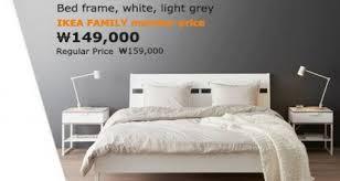 grey king bed ikea bedroom best trysil frame white light grey grey