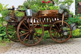 free images outdoor plant wheel cart retro decoration factory garden bucket ornament deco flowers art design carriage steam engine cannon