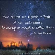 "Wishes And Dreams Quotes Best Of Quote By Steve Maraboli ""Your Dreams Are A Poetic Reflection Of"