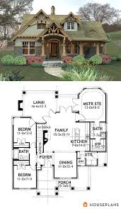 Basement House Plans Designs Craftsman Mountain House Plan And Elevation 1400sft