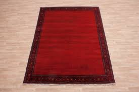 100 wool red plain afghan kundoz rug akp023000 286x200 handknotted in afghanistan with a 5mm
