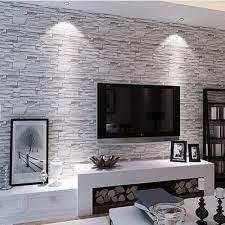 Wallpaper 3D PVC Stone Patterned Rolls ...