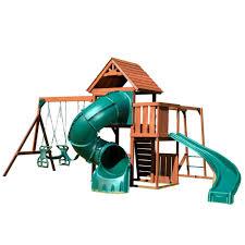 swing n slide playsets grandview twist deluxe wood complete playset with chalkboard