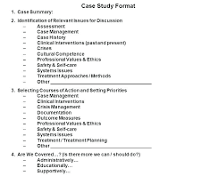Case Study Format Template