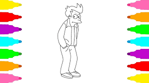 futurama coloring pages. Wonderful Pages How To Draw Philip J Fry From Futurama  Coloring Pages Drawing For Kids Inside S
