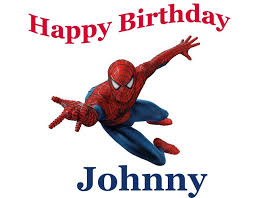 Spiderman Edible Cake Topper With Free Personalization Etsy