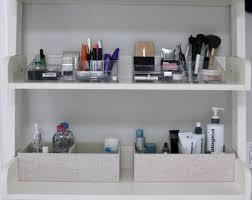 organized make up shelf