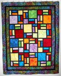 Stained Glass Quilt Pattern Adorable Stained Glass Quilt Designed By Bob Craftsy