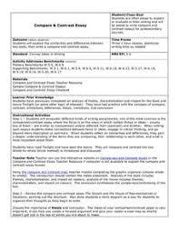 Compare Contrast Essay Lesson Plan For 7th 10th Grade Lesson