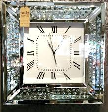crystal wall crystal decor wall clock