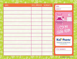 Money Chart For Kids Printable 43 Free Chore Chart Templates For Kids Template Lab