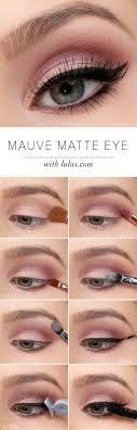 step by step eyeshadow tutorial for blue eyes mauve matte eye