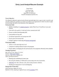 Skill Resume 48 Data Analyst Resume 2016 Data Analyst Resume Entry