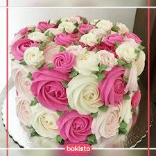 Pink White Flowers Birthday Cake Flower Cakes Birthday Cake In Lahore