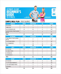 Fitness Diet Chart 9 Diet Chart Free Sample Example Format Download
