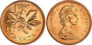 Coins And Canada 1 Cent 1970 Canadian Coins Price Guide