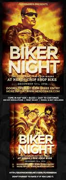 motorcycle club flyers biker night gathering party flyer party flyer bikers and flyer