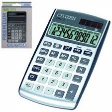 <b>Калькулятор карманный CITIZEN</b> CPC-112WB (120х72 мм), 12 ...