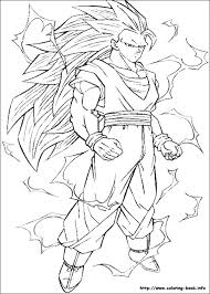 Gotenks , vegeta , songoku ,piccolo and songohan. Dragon Ball Z Coloring Picture