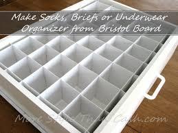 Make Socks Organizer from Bristol Board
