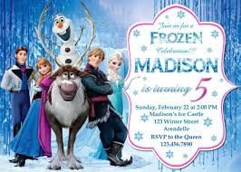 make your own frozen invitations frozen birthday party invitation example frozen birthday party