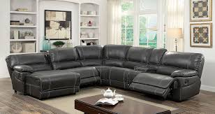 reclining sectional with chaise. Perfect With Furniture Of America 6131GY Gray Reclining Chaise Console Sectional Sofa  Los Angeles San Diego Long Beach Throughout Sectional With Chaise L