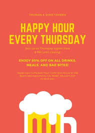 Happy Hour Flyer Customize 241 Happy Hour Flyers Templates Online Canva