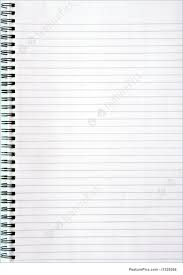 blank white lined notebook page royalty free stock picture