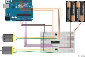 arduino l293d dc motors control feiticeir0 s blog l293d arduino bb