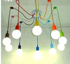 diy cable lighting. Diy Track Lighting Cable Modern Pendant Lights Multi  Color Silicone Bulb Holder Lamps Home N