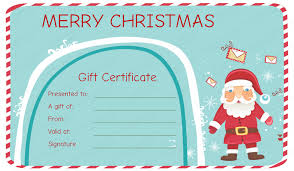 Christmas Present Gift Certificate Template Christmas Present Card
